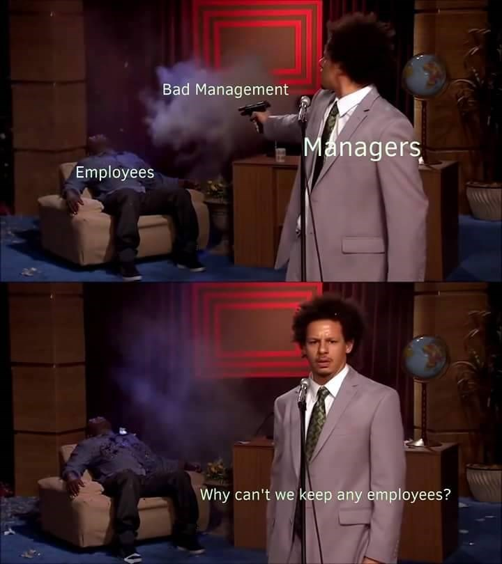Funny meme about work, jobs, managers.