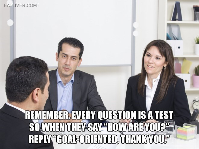 """Product - EATLIVER.COM REMEMBER, EVERY QUESTION IS A TEST SOWHEN THEY SAY """"HOW AREYOUP REPLY CGOAL-ORIENTED, THANKYOU"""""""