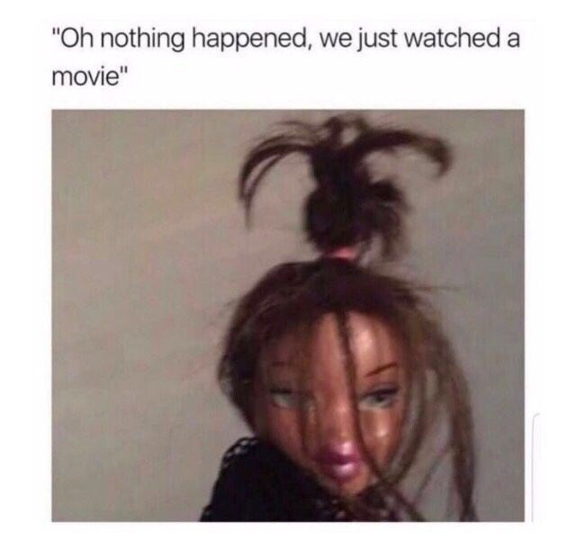 """Hair - """"Oh nothing happened, we just watched a movie"""""""