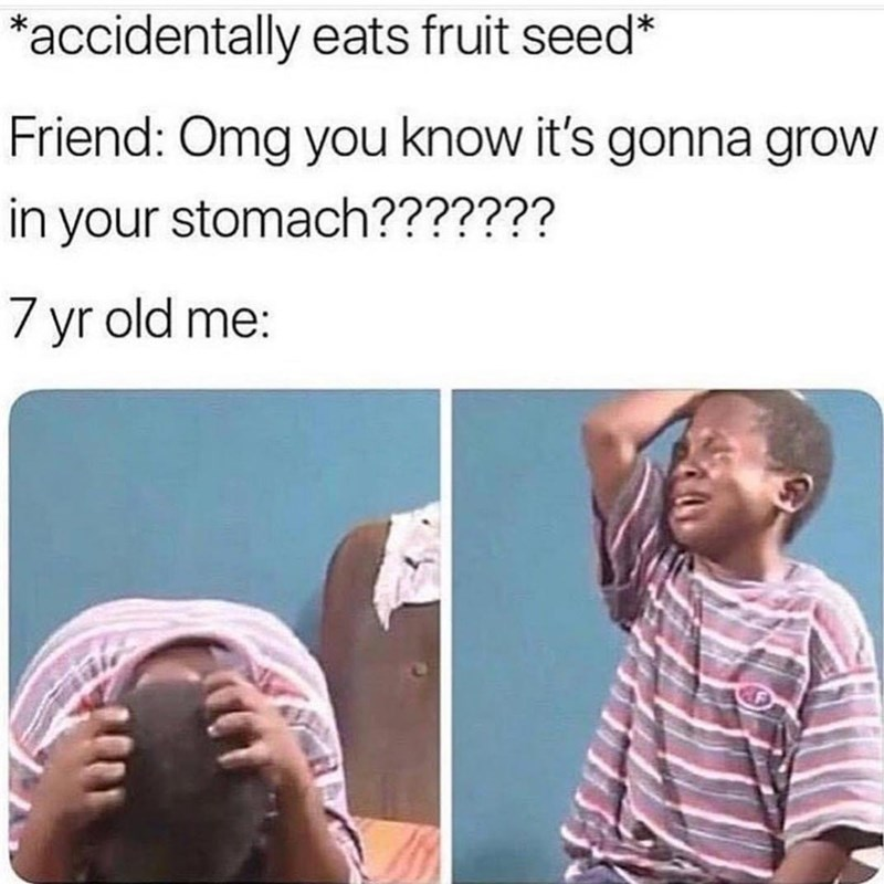 Funny meme about childhood.