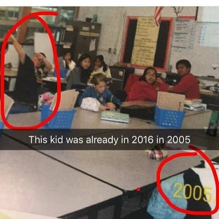 snapchat kids Memes time travel dabbing - 9188557312