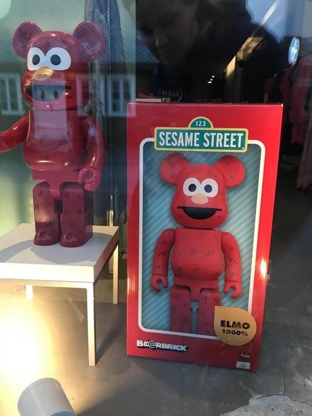 Toy - MAIA 123 SESAME STREET ELMO 1000% BE@RBRICK COM