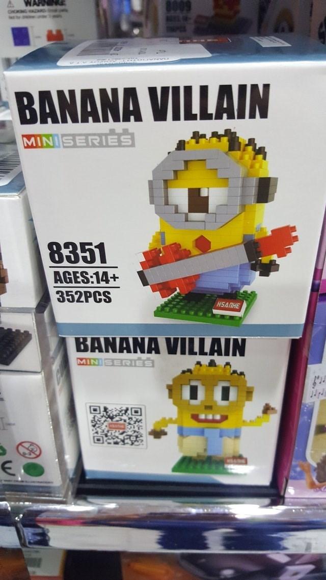 Toy - 8009 BANANA VILLAIN MINISERIES 8351 AGES:14+ 352PCS H5A HE BANANA VILLAIN MINISERIES