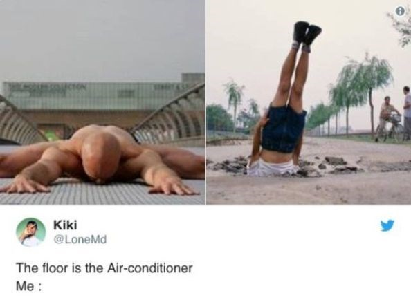 Arm - Kiki @LoneMd The floor is the Air-conditioner Me
