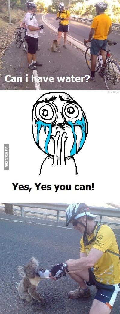 thirsty - Head - Can i have water? Yes, Yes you can! VIA 9GAG.COM