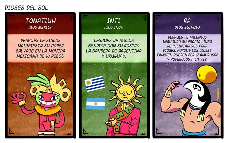 dioses del sol vineta de PedroLarezIlustrador