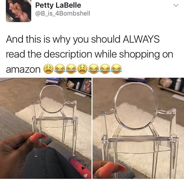 Girl ordered a vanity that ended up being doll-sized