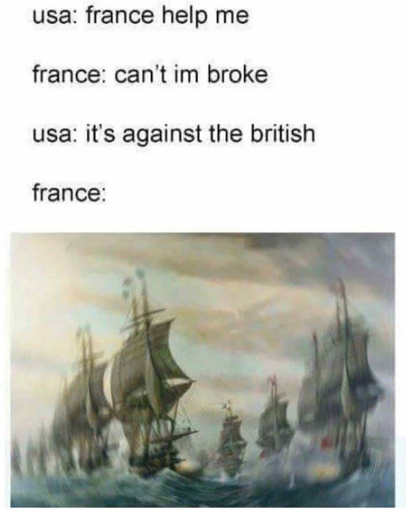 Manila galleon - usa: france help me france: can't im broke usa: it's against the british france: