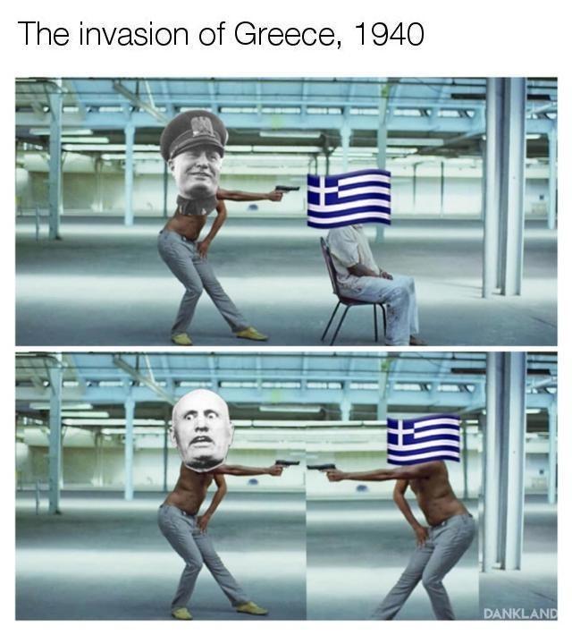 Cartoon - The invasion of Greece, 1940 DANKLAND