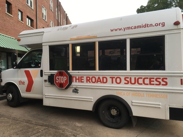 Land vehicle - www.ymcamidtn.org e CAIT STOP THE ROAD TO SUCCESS the YMCA OF MIDDLE TENNESSEE
