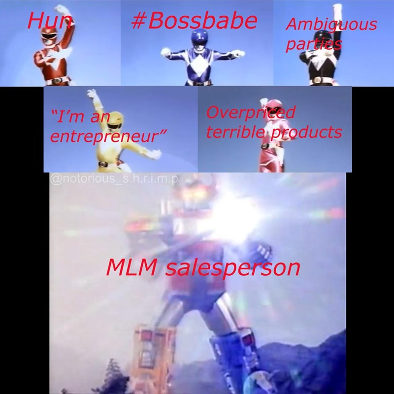 """Fictional character - #Bossbabe Hur Ambiguous pars Overproed terrible products """"I'm an entrepreneur"""" @notorious s.h.rim.p MLM salesperson"""