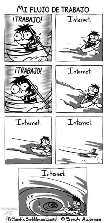mi flujo de trabajo se va al bano por el internet