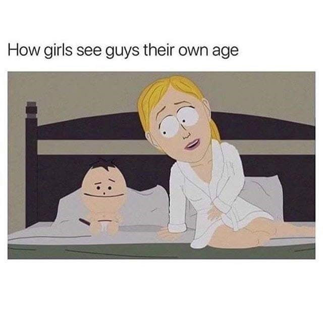 Cartoon - How girls see guys their own age
