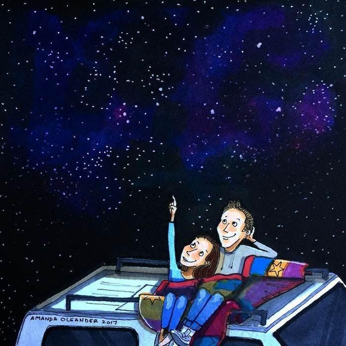 Cartoon - AMANDA OLEANDER 2017