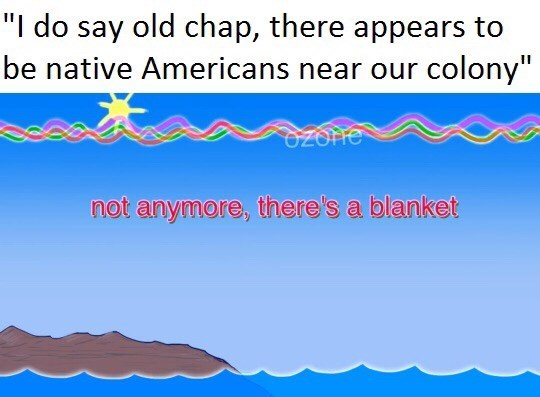 dank meme about using a blanket to get rid onf native americans
