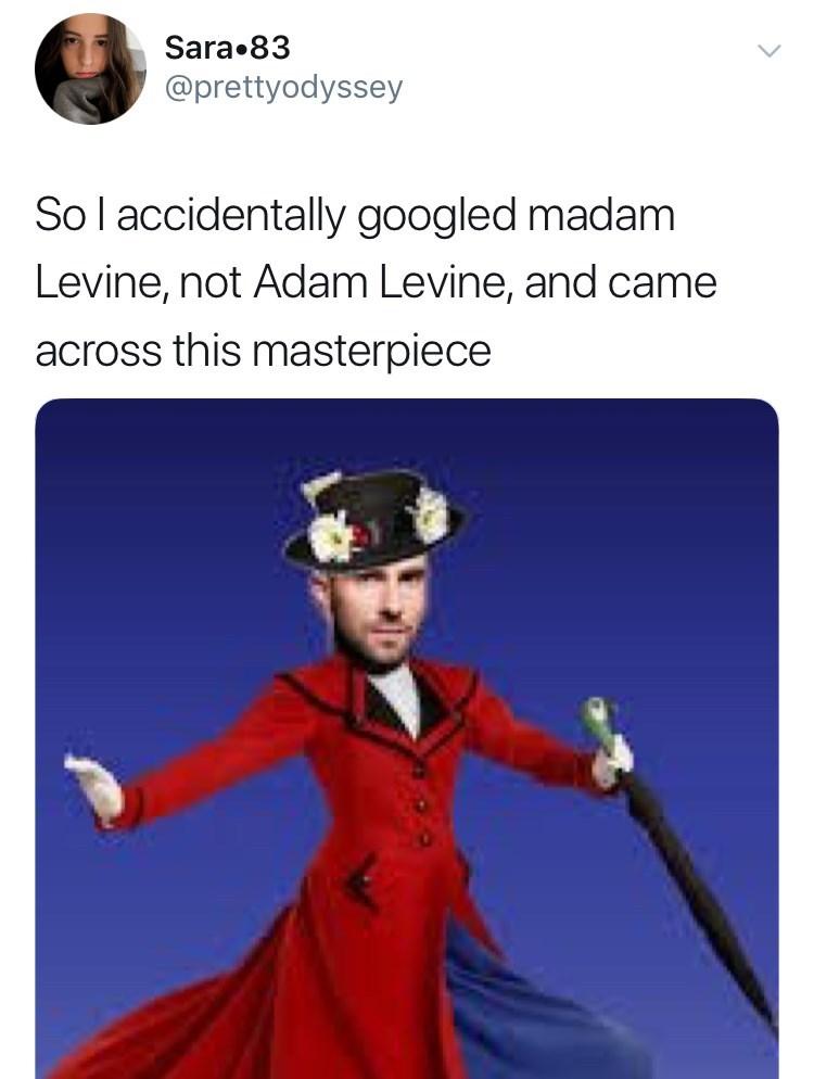 Cartoon - Sara 83 @prettyodyssey Sol accidentally googled madam Levine, not Adam Levine, and came across this masterpiece