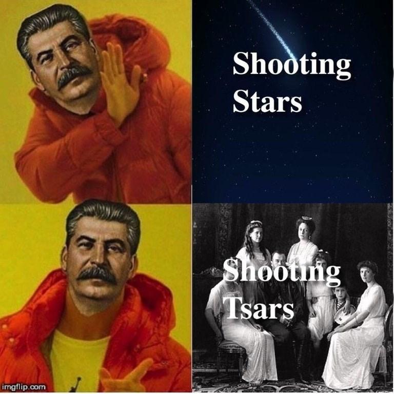 communist meme - Album cover - Shooting Stars Shootng Tsars imgflip.com