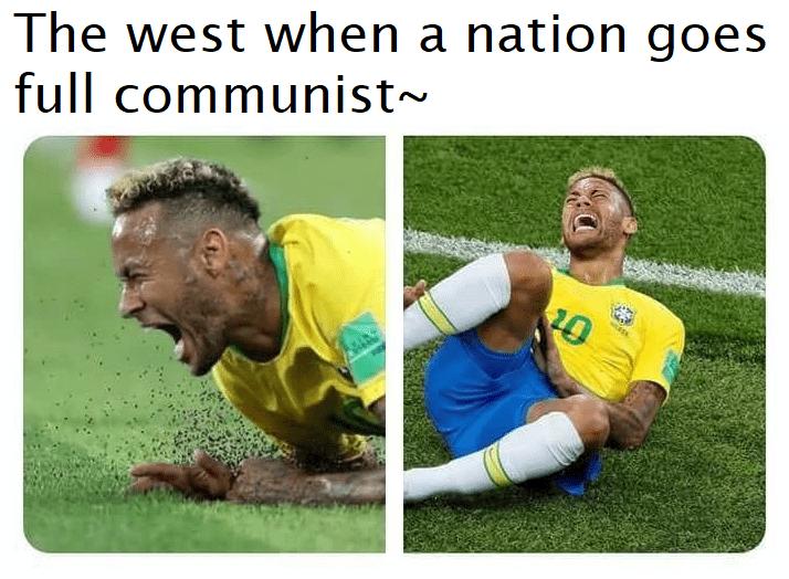 communist meme - Football player - The west when a nation goes full communist~ 20