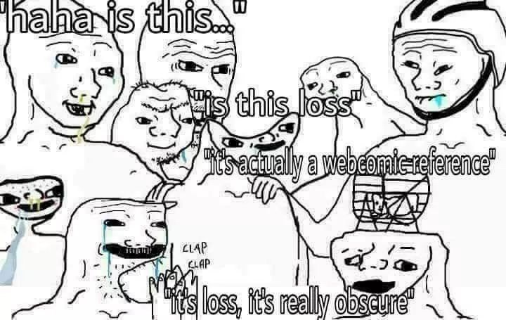 dank meme about the loss meme being overdone