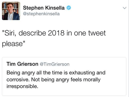 meme about being angry throughout 2018