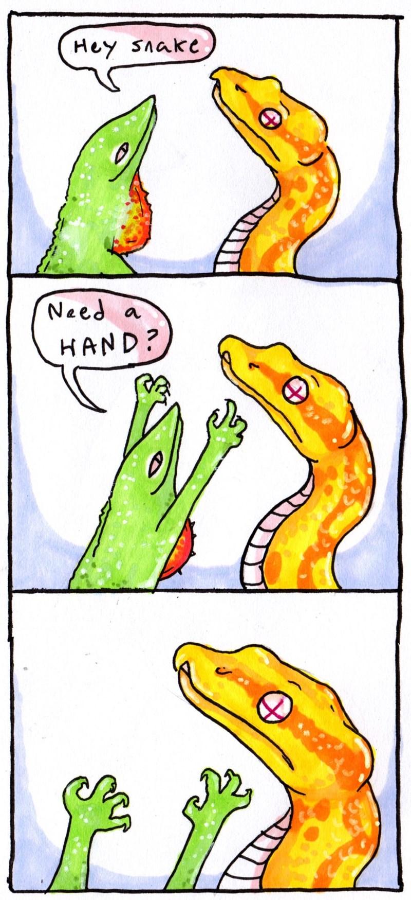 Clip art - Hey SAake Need a HAND?