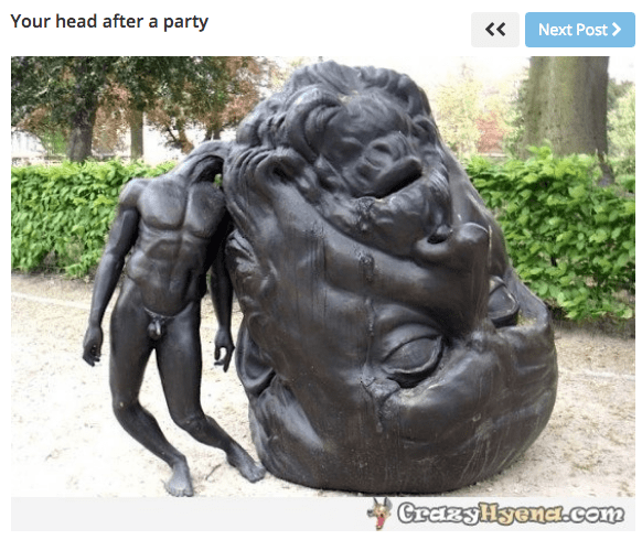 """""""Your head after a party"""""""