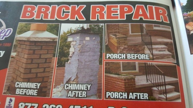 Brick - BRICK REPAIR 1999 PORCH BEFORE CHIMNEY AFTER CHIMNEY BEFORE PORCH AFTER 977 0