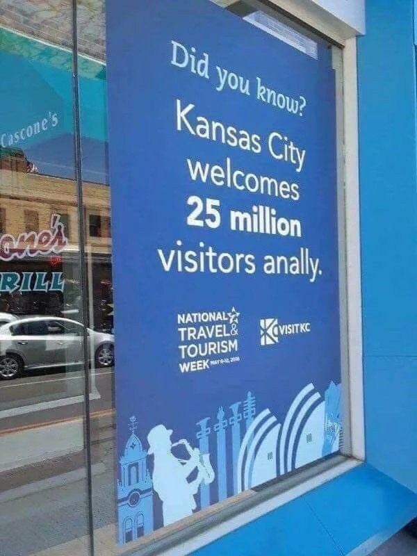 Banner - Did you knou? Kansas City Cascone's welcomes 25 million visitors anally. RILL NATIONAL TRAVEL& TOURISM WEEK VISITKC