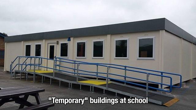 "Building - ""Temporary"" buildings at school"