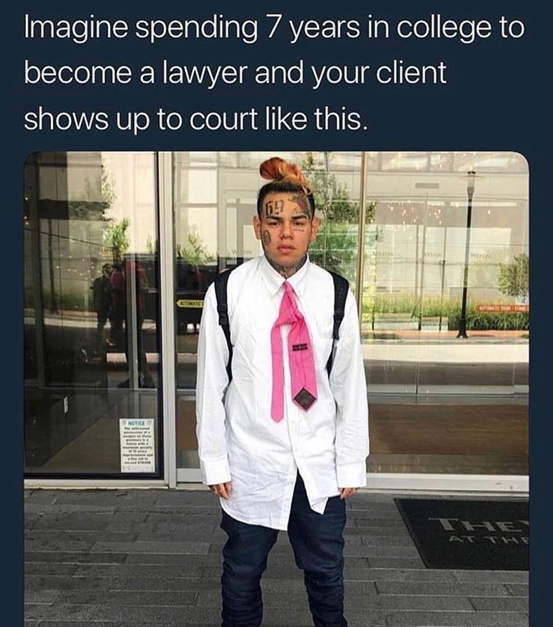 Funny meme about soundcloud rapper going to jail, tekashi 69.