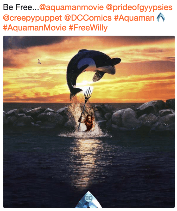 Dolphin - Be Free...@aquamanmovie @prideofgyypsies @creepypuppet @DCComics #Aquaman #AquamanMovie #FreeWilly DC