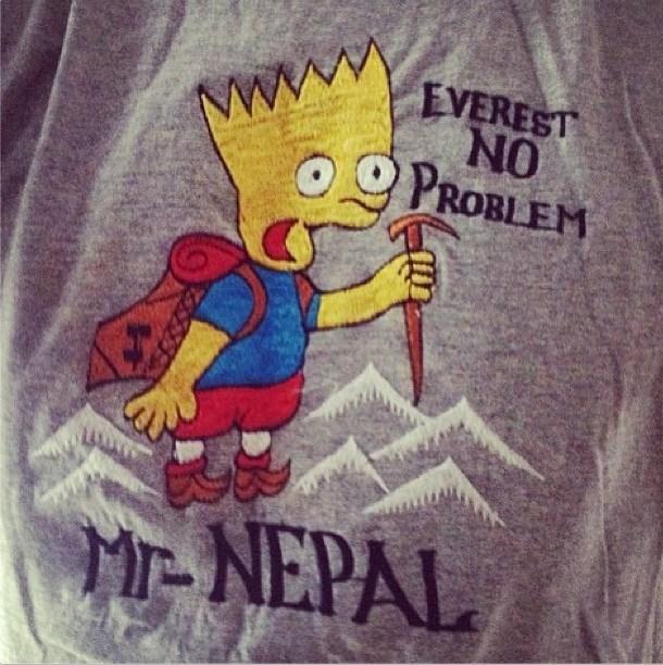 T-shirt - EVEREST NO PROBLEM Mwww M-NEPAL