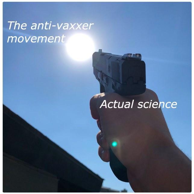 Gun - The anti-vaxxer movement Actual science