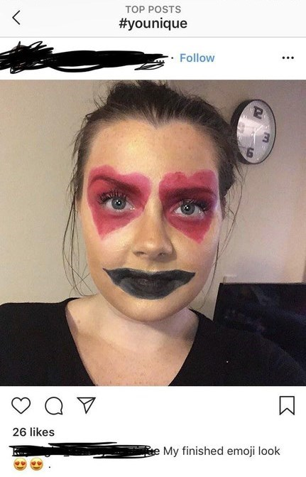 Face - TOP POSTS #younique Follow 26 likes eMy finished emoji look