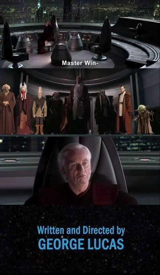 star wars meme - Batman - Master Win- Written and Directed by GEORGE LUCAS