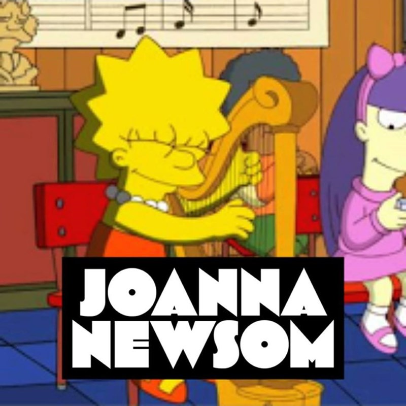 music meme - Cartoon - JOANNA NEWSOM