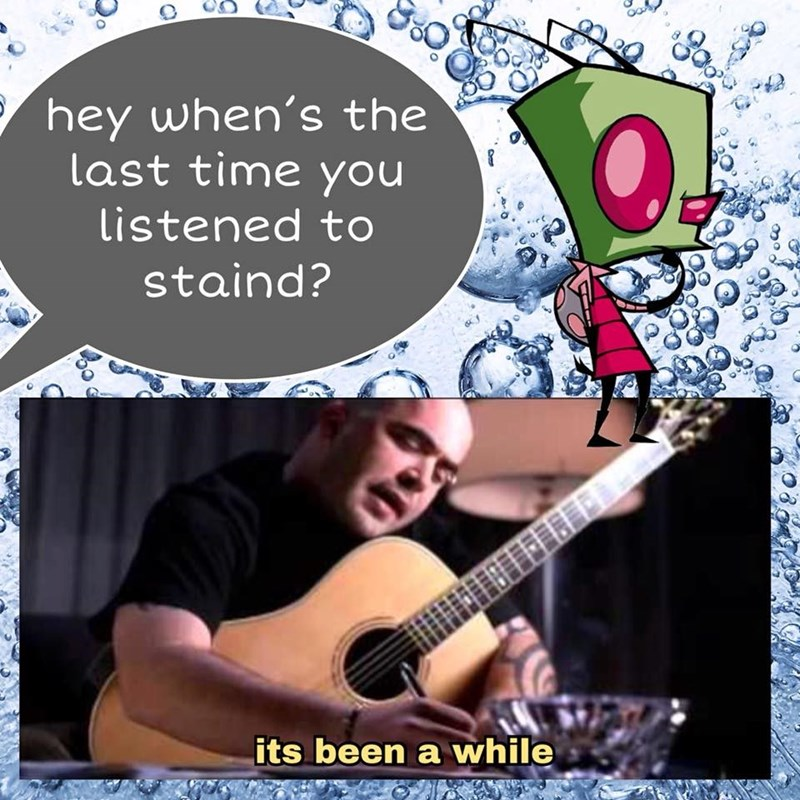 music meme - String instrument accessory - hey when's the last time you Listened to staind? its been a while