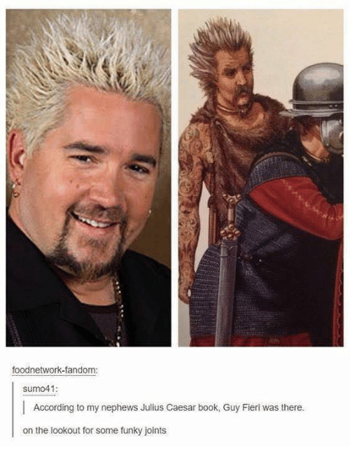 Picture of a historical painting that looks like Guy Fieri