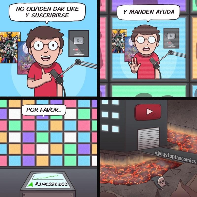 en el mundo de los youtubers piden ayuda
