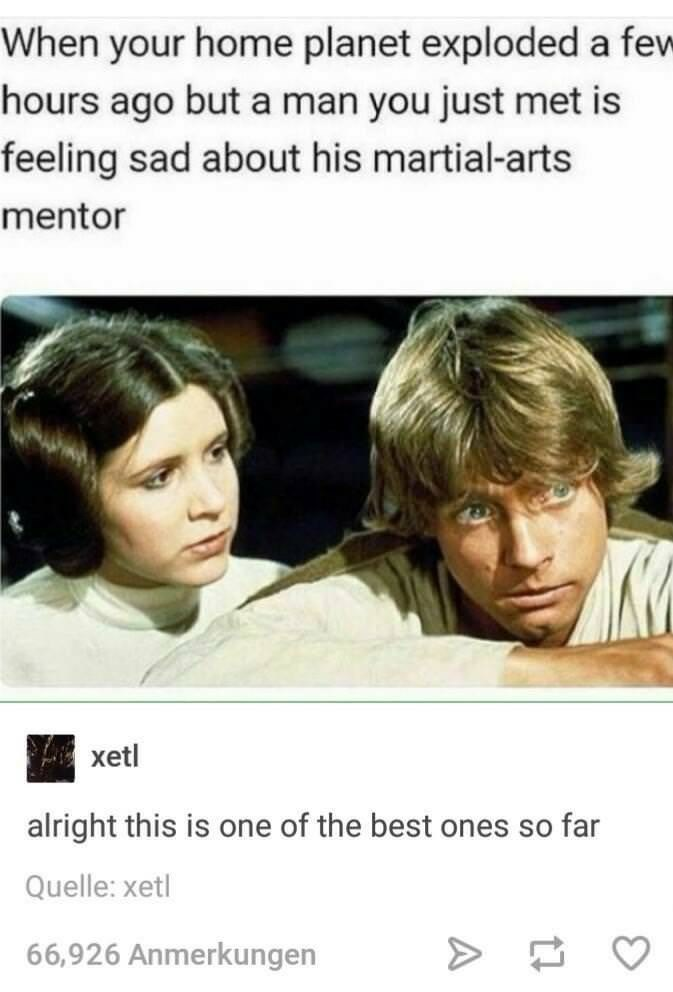 meme about women ignoring their own problems to comfort men with Star Wars scene of Leia consoling a sad Luke