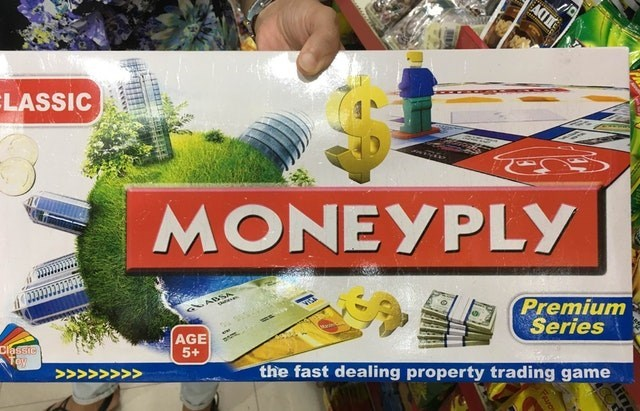 Games - ACT LASSIC MONEYPLY ABSA the Premium Series AGE 5+ classic Tey the fast dealing property trading game >>>>