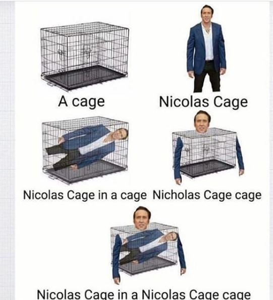 Product - Nicolas Cage A cage Nicolas Cage in a cage Nicholas Cage cage Nicolas Cage in a Nicolas Caqe caqe