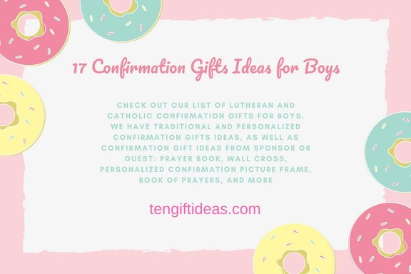 Confirmation gift ideas for boys - Home