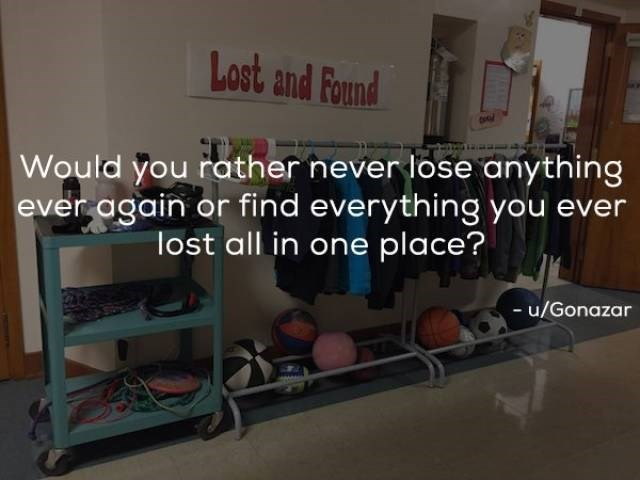 Product - Lost and Found Would you rather never lose anything ever again or find everything you ever lost all in one place? -u/Gonazar