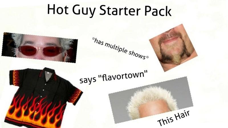 Guy Fieri starter pack meme