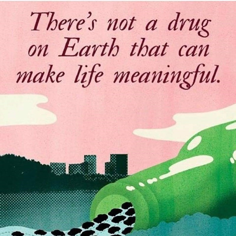 Text - There's not a drug on Earth that can make life meaningful.