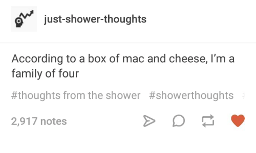 Tumblr post about eating a 4 people portion of mac and cheese