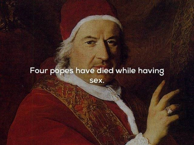 Painting - Four popes have died while having sex.
