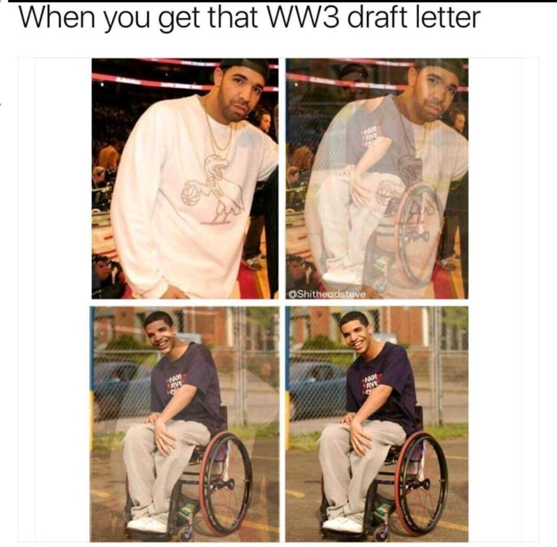 T-shirt - When you get that WW3 draft letter 100 OShitheadsteve 100 AVE