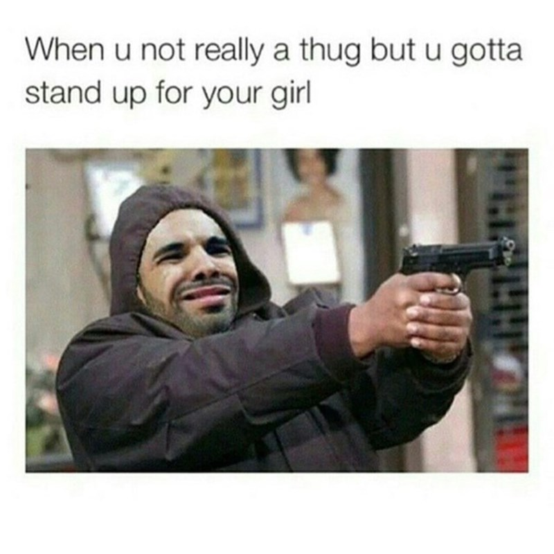 Facial expression - When u not really a thug but u gotta stand up for your girl PEG20